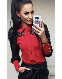 Елегантна блуза в червено - код 7262