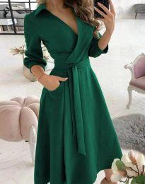 Елегантна дамска рокля в зелено - код 2861