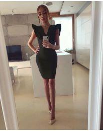 Елегантна дамска рокля в черно - код 009