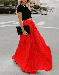 Дълга дамска пола в червено - код 3146