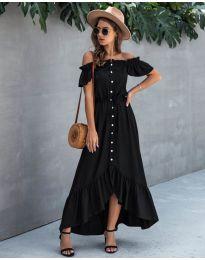 Свободна дълга рокля в черно - код 564