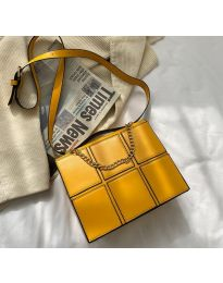 Елегантна дамска чанта в цвят горчица - код B509