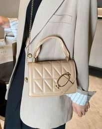 Дамска чанта в бежово - код B445