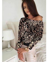 Дамска блуза с ефектен десен - код 5156 - 2