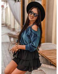Дамска блуза в цвят тюркоаз - код 280