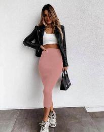 Дамска пола в цвят пудра - код 2260