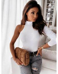 Екстравагантна блуза в бяло - код 41777