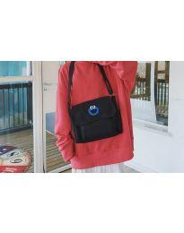 Дамска чанта с ефектен принт в черно - код B523