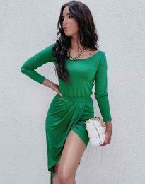 Елегантна дамска рокля в зелено - код 1652