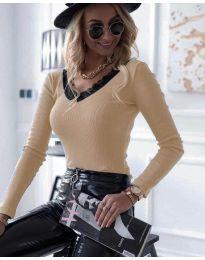 Дамска блуза в праскова - код 7706
