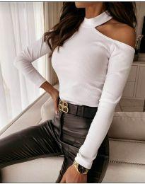 Дамска блуза в бяло - код 8570