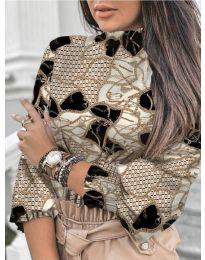 Елегантна блуза с ефектен десен - код 611 - 1