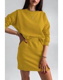 Дамски комплект в цвят горчица - код 1512