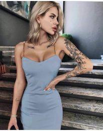 Елегантна рокля в светло синьо - код 4749