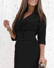 Дамска рокля в черно - код 1356