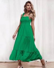 Ефирна дамска рокля в зелено - код 1729