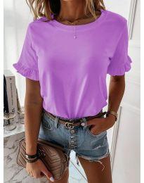 Дамска тениска в лилав цвят - код 068