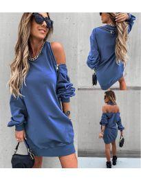 Дамска рокля в синьо - код 296