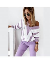 Дамска блуза в лилаво - код 0907