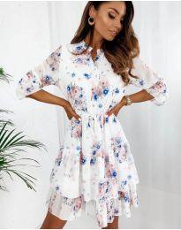 Дамска рокля с ефектен десен - код 8877 - 1