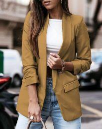 Дамско сако в кафяво  - код 9648