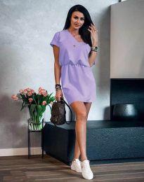 Дамска рокля в светлолилаво - код 3214