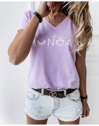 Тениска в светло лилаво - код 822