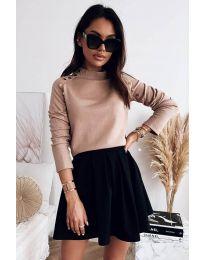 Дамска блуза в бежово - код 2899