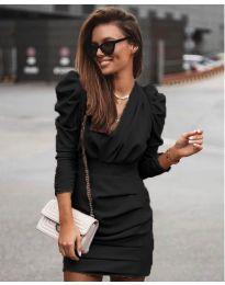 Елегантна рокля в черно - код 870