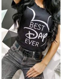 Тениска в черно - код 469