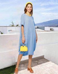 Дамска рокля в светлосиньо - код 5554
