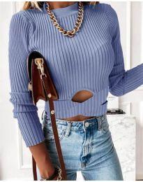 Дамска блуза в светло синьо - код 4089