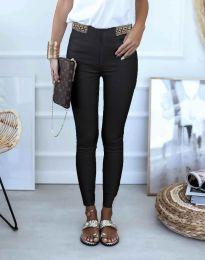Втален дамски панталон в черно - код 0255
