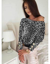 Дамска блуза с ефектен десен - код 5156 - 4