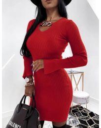 Дамска рокля в червено - код 5666