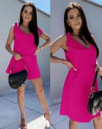 Свободна дамска рокля в цвят циклама - код 2504