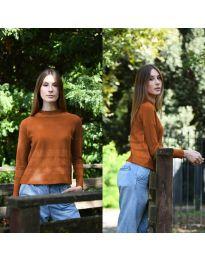 Дамска блуза в кафяво - код 912