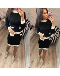 Комплект от пола и блуза в черно - код 481