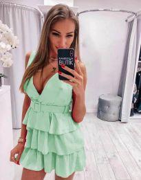 Кокетна къса рокля в светлозелено - код 6939