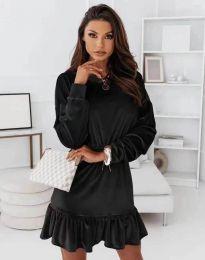 Атрактивна дамска рокля в черно - код 0424