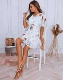 Дамска рокля с флорален десен - код 4082 - 2
