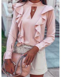 Елегантна блуза в розово - код 7715