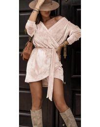 Дамска рокля в розово - код 238