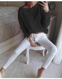 Дамска блуза в черно - код 6182