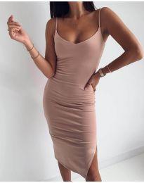 Изчистена рокля в праскова - код 0088
