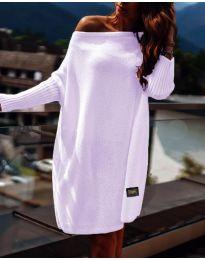 Свободна дамска рокля в лилаво - код 1040