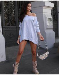 Свободна блуза в сиво - код 5487
