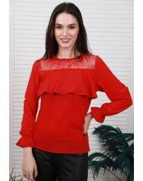 Дамска блуза в червено - код 0628