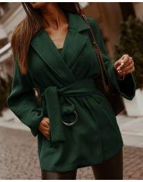 Дамско късо палто в  маслено зелено - код 8282
