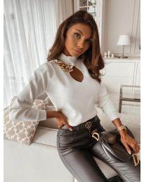 Елегантна блуза в бяло - код 9062